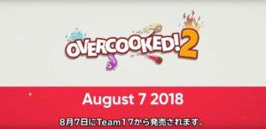 Nintendo E3 2018 Overcooked!2